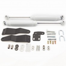 Dual Shock Steering Stabilizer Kit Complete by Hell Bent Steel
