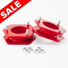 Isometric View - Ford F150 3 inch RED leveling kit. Fits 2004-2008 Ford F150 Trucks