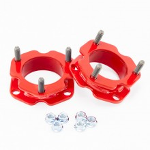 Isometric View - Toyota Tacoma 2 inch RED leveling kit. Fits 1996-2004 Toyota Tacoma Trucks